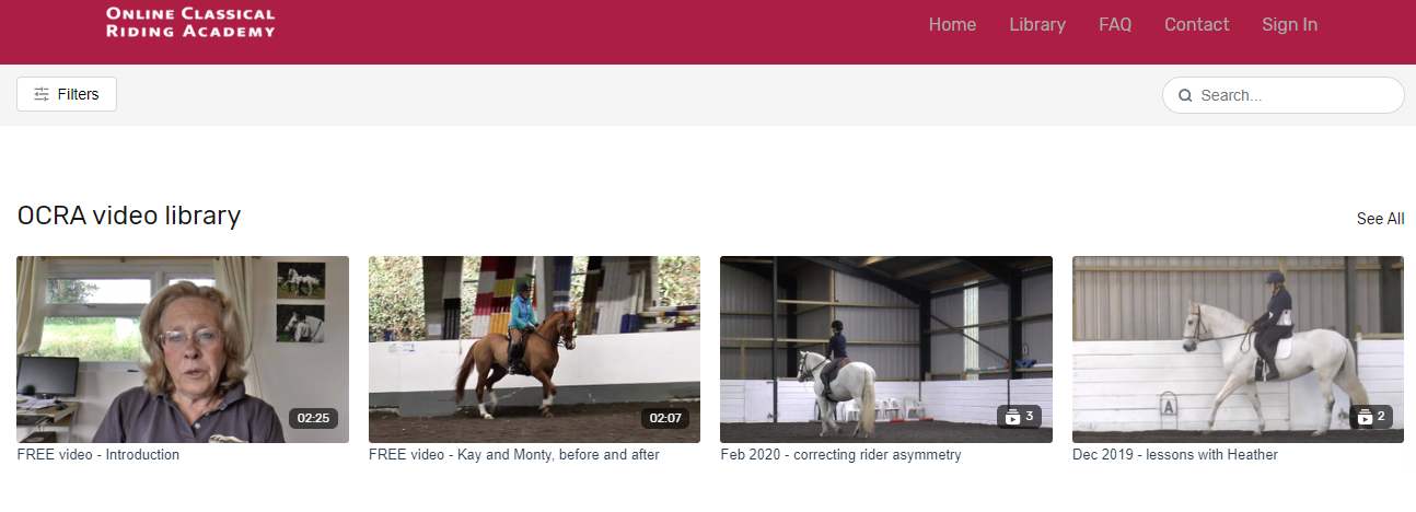 online classical riding academy
