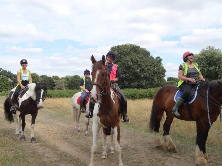 Riders in Bushy Park London