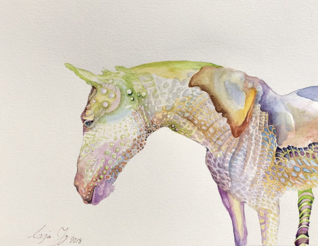painting a horse in watercolor
