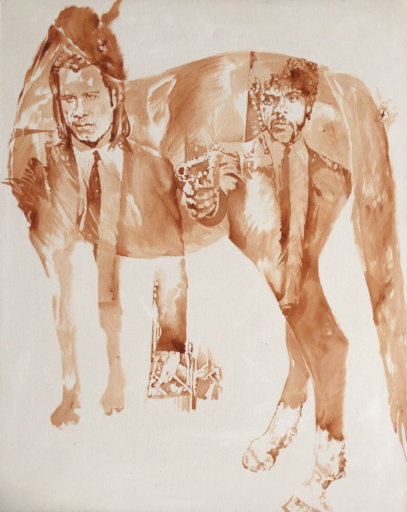 watercolor horse painting ideas pulp fiction